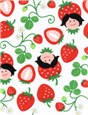 Popeline de coton HamburgerLiebe - Strawberry Picking - Blanc