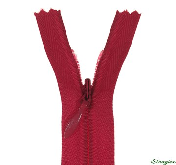 invisible Zip - - - 3488 Cerise - 60 cm