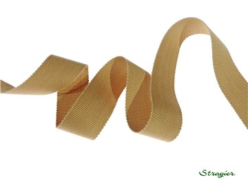 Grosgrain - Cotton - Plain - Camel - 25 mm