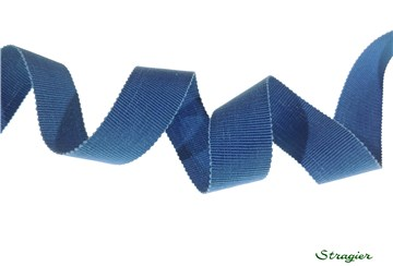 Grosgrain - Cotton - Plain - Bleu - 25 mm