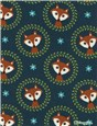 Jersey Coton stretch - Fox Ornament - 93