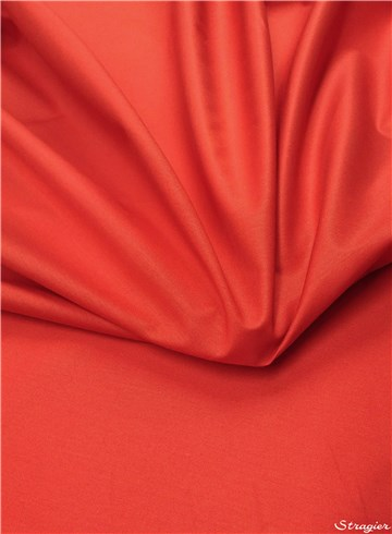 Cotton - waterproof - blended - Plain - Rouge