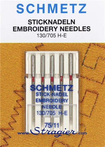 Aiguilles Machine Embroidery - 75/11 - 5pc