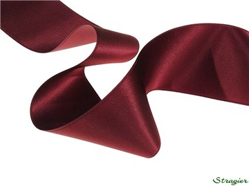Ruban Satin double face - uni - 64 Bordeaux - 50 mm