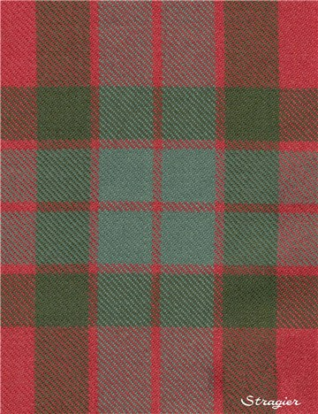 Tartan Ecossais Pure Laine - Fraser Red Weathered -