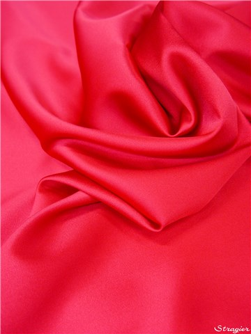 Satin de Soie Stretch - Uni - Fuchsia