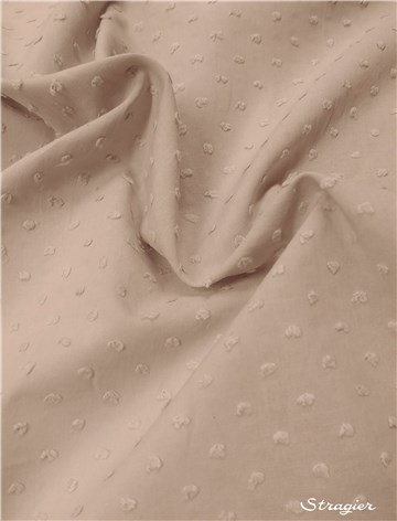 Cotton Batiste - Swiss Dots - Plain - Gris Perle