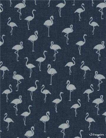 Jeans stretch - Flamingo - Indigo