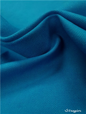 pure Cotton Cloth - Heavy - Plain - Bleu Aqua