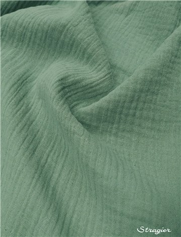 Double Cotton Gauze - Plain - Vert Sauge