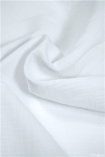 Double Cotton Gauze - Plain - Blanc