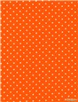 Pure Cotton Poplin - Pois 1,5mm - Orange