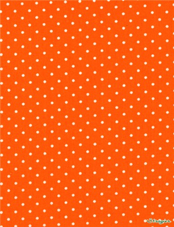 Popeline pur Coton - Pois 1,5mm - Orange