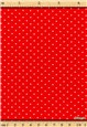 Popeline pur Coton - Pois 1,5mm - Rouge
