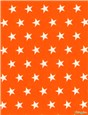 Pure Cotton Poplin - Etoiles - Orange