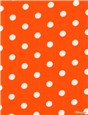 Popeline pur Coton - Pois 7mm - Orange
