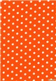 Pure Cotton Poplin - Pois 7mm - Orange