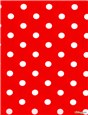 Pure Cotton Poplin - Pois 7mm - Rouge