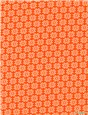 Pure Cotton Poplin - Daisy - Orange