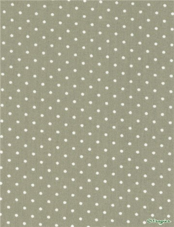 Popeline pur Coton - Pois 1,5mm - Beige Taupe