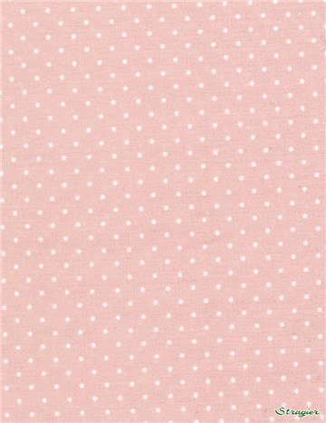 Pure Cotton Poplin - Pois 1,5mm - Nude