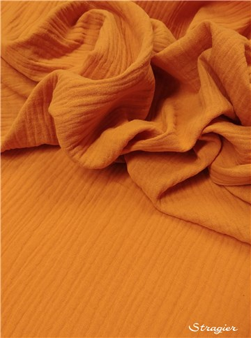 Double Cotton Gauze - Plain - Ocre