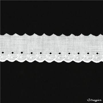 Broderie anglaise - 012043 - Blanc - 40 mm-15 mm