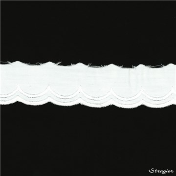 Broderie anglaise - 012048 - Blanc - 35 mm-20 mm