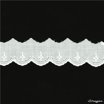 Broderie anglaise - 012070 - Blanc - 30 mm-20 mm