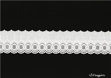 Broderie anglaise - 012075 - Blanc - 85 mm-70 mm