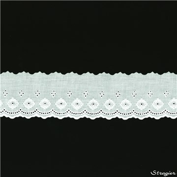 Broderie anglaise - Margaux - Blanc - 80 mm-50 mm