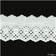 Broderie anglaise - 012089 - Blanc - 65 mm-45 mm