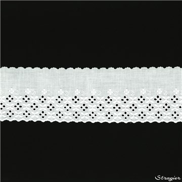 Broderie anglaise - 012106 - Blanc - 90 mm-60 mm