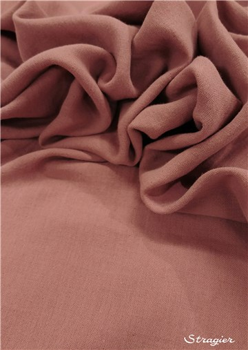 Double pure Cotton Gauze - Plain - Rose cuivré