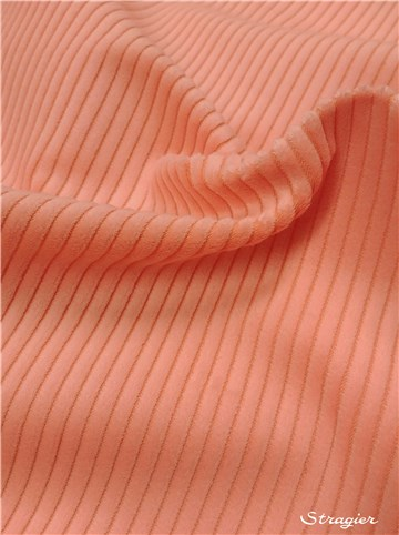 Corduroy - 4W - 6mm Rib - Plain - Saumon