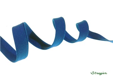 End-and-End Bias Binding - Plain - Bleu Sarcelle - 10 mm