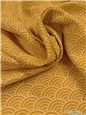Twill Viscose Soft - Seigaiha - Moutarde