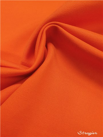 Maille Milano Stretch - uni - Orange Corail