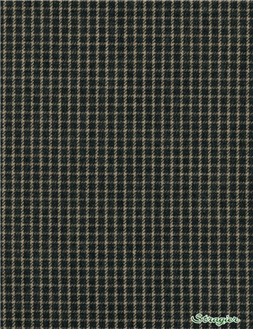 Coton gratté - Carreaux 4mm - Anthracite