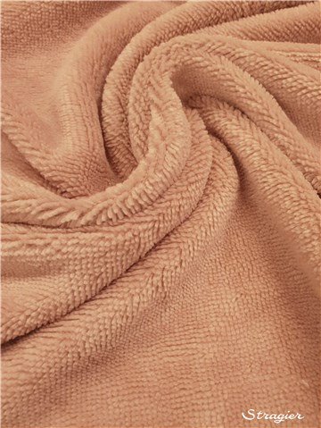 Terry Velour - Cotton & Bamboo - uni - Rose des Sables