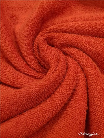 Terry Velour - Cotton & Bamboo - uni - Rouge Corail