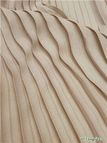 Box pleats - uni - Beige Naturel - 75 cm