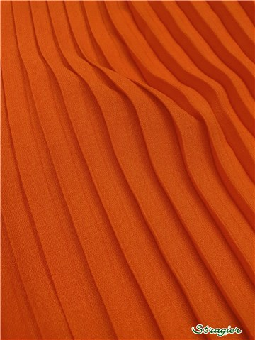 Box pleats - uni - Orange Sienne - 75 cm