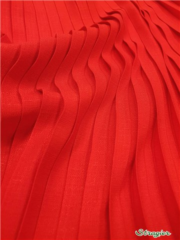 Box pleats - uni - Rouge - 75 cm