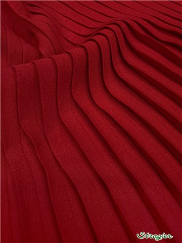 Box pleats - uni - Rouge Cerise - 75 cm