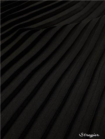 Box pleats - uni - Noir - 75 cm