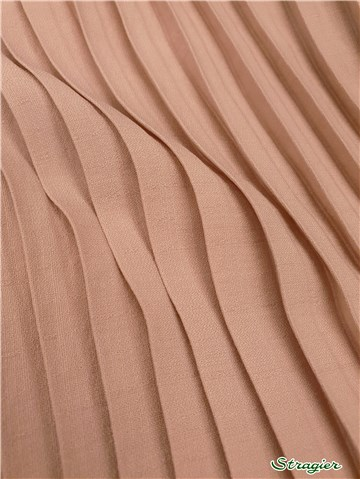 Box pleats - uni - Rose poudré - 75 cm
