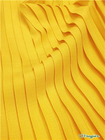 Box pleats - uni - Jaune Citron - 150 cm