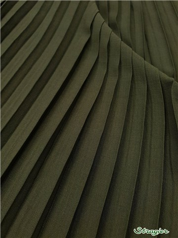 Box pleats - uni - Kaki - 150 cm