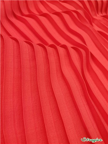 Box pleats - uni - Rose Corail - 150 cm